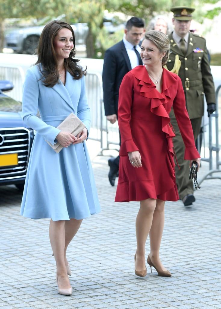 Kate Middleton Wears Blue Emilia Wickstead Coat