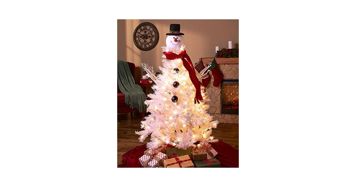Spiff Up A Frosty White Artificial Tree With This Frosty