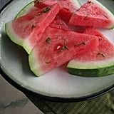 Watermelon With Honey-Lime Mint Syrup