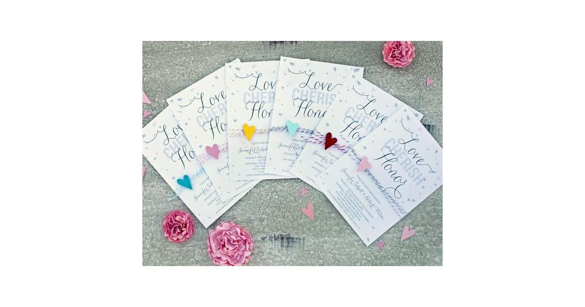 Hearts Confetti Wedding Invitation | Free Printable Wedding ...