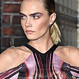 Cara Delevingne's Colourful Side Part at Carnival Row 2019