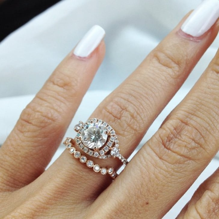 rose gold engagement ring photos popsugar love sex - Wedding Rings Rose Gold