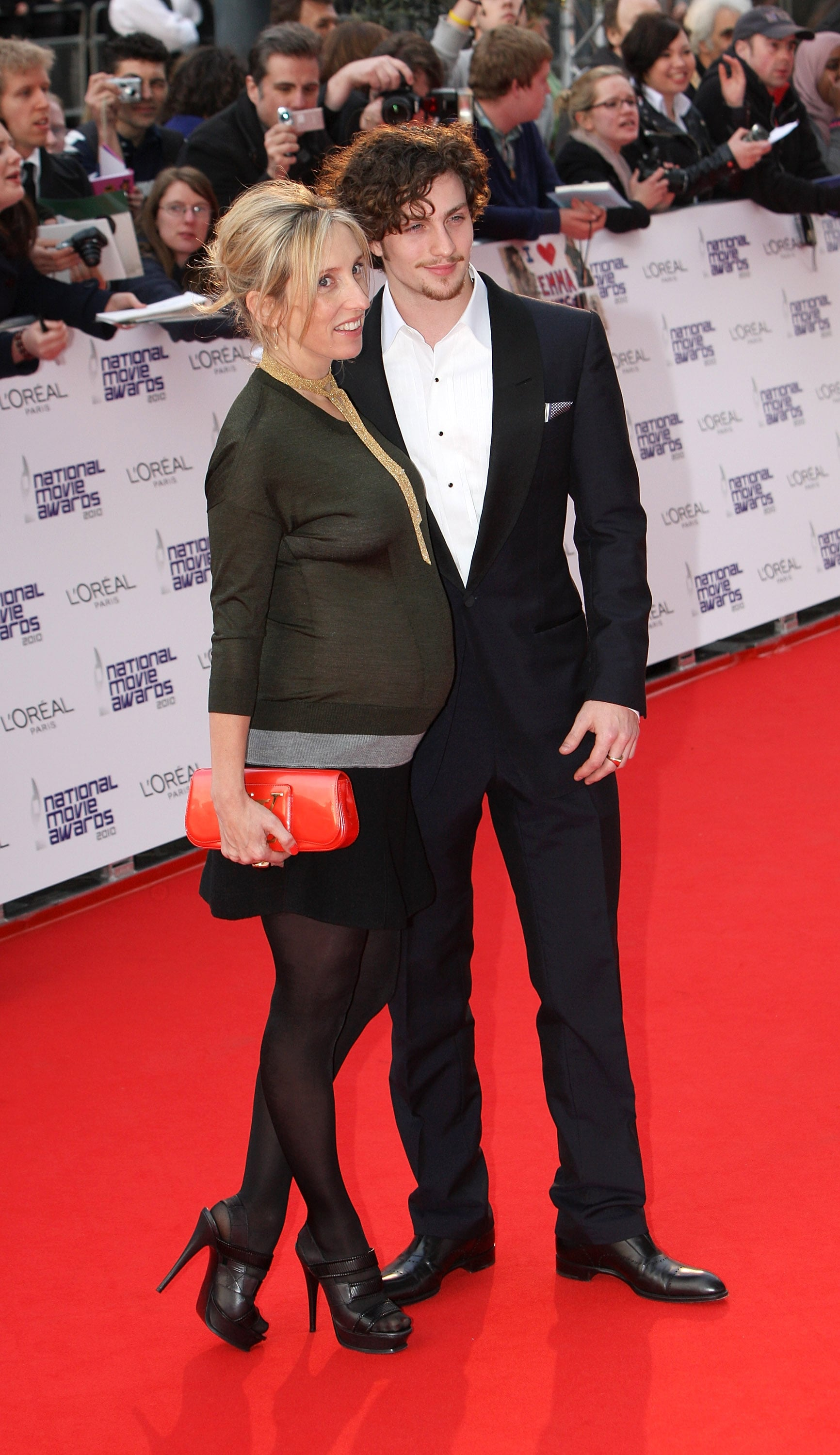 Pictures Of Pregnant Sam Taylor Wood And Her Fiance Aaron