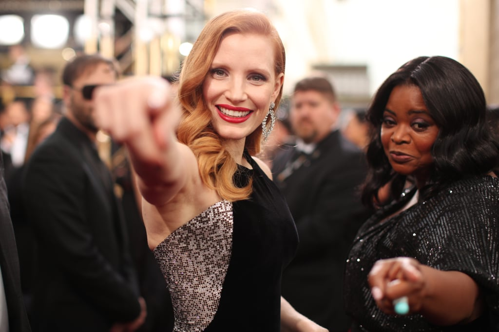 Pictured: Jessica Chastain and Octavia Spencer