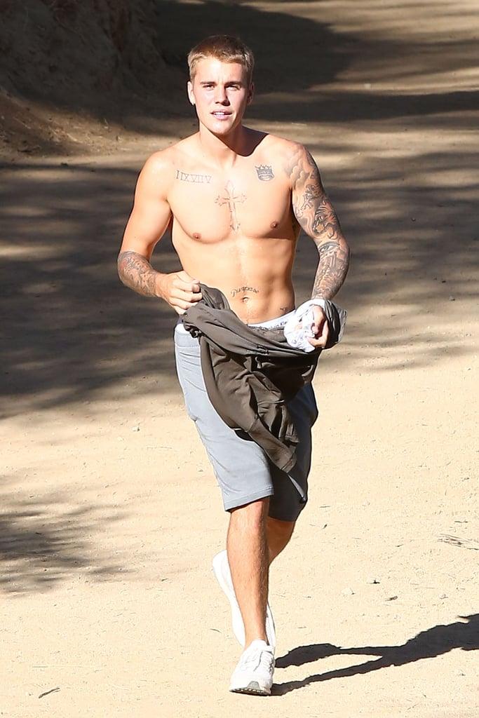 Justin Bieber Shirtless in LA September 2016 | Pictures