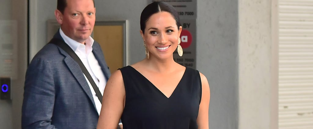 Meghan Markle Wears Gold Drop Earrings With Her Jumpsuit