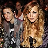 Lindsay Lohan sat next to Samantha Ronson during the 2008 show.