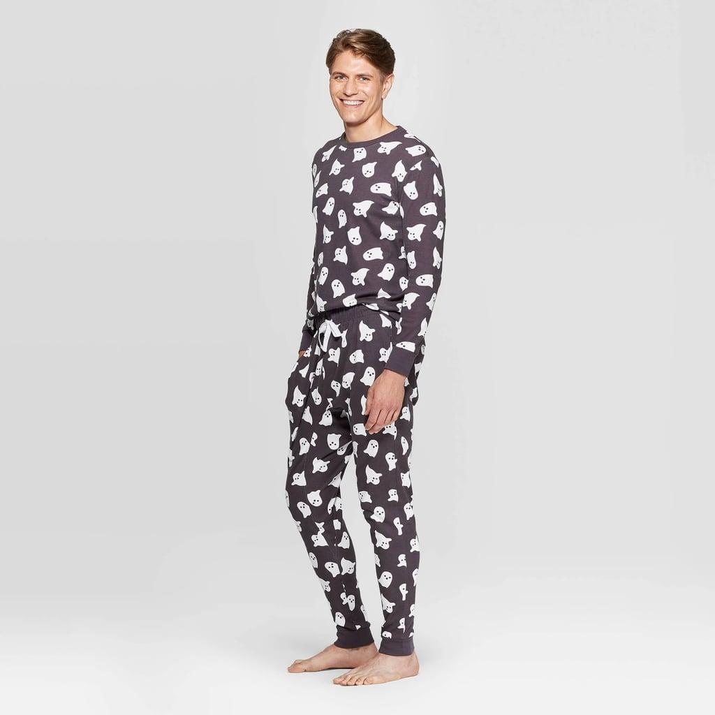Women Sleepwear Family Matching Halloween Bat Skull Pajamas Pants Sets Nightwear Hink