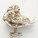 Metallic Beaded Bird Ornament