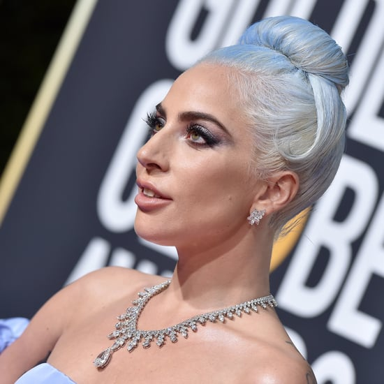 Shop Lady Gaga's Blue Tie-Dye Bikini