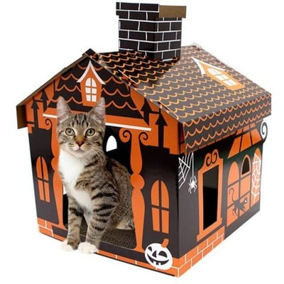 Hyde and Eek Haunted House Cat Scratcher NEW Ready to Ship $5 Shipping