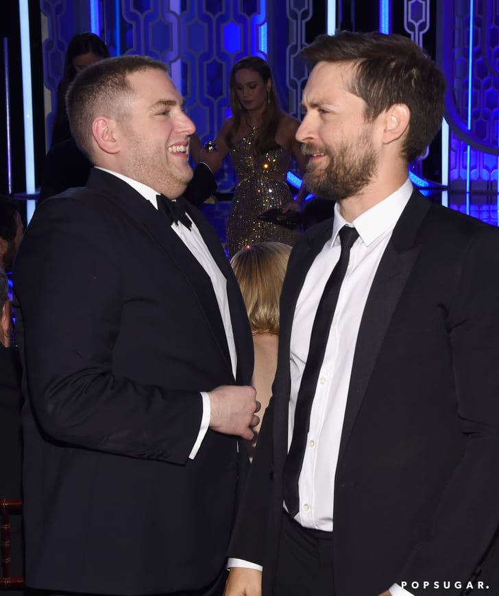 Jonah Hill and Tobey Maguire caught up between commercials ...