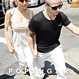 Jennifer Lopez followed Casper Smart into lunch in NYC.
