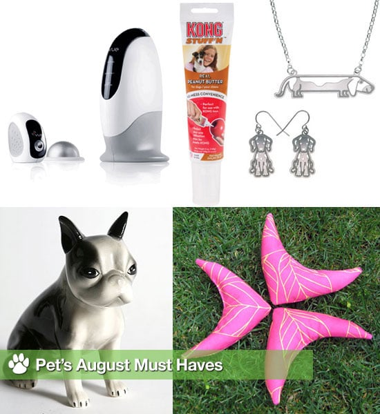 Peanut Butter For Dogs, a Dog Bank and Pet Jewelry, Catnip Toys, and Home Video System