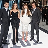 Colin Farrell, Kate Beckinale, Jessica Biel and Len Wiseman dressed in formal attire for their UK movie premiere.