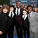 Pictured: Gaten Matarazzo, Sterling K. Brown, Caleb McLaughlin, Noah Schnapp, and Finn Wolfhard