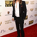 Jared Leto let his hair down.