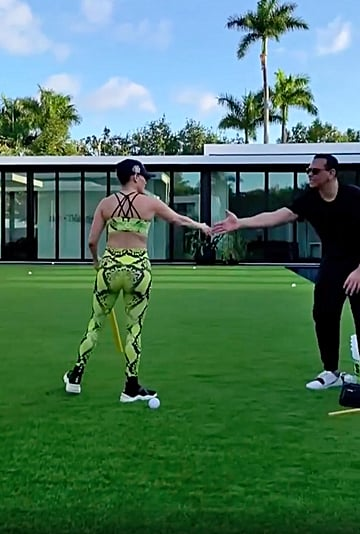 Jennifer Lopez and Alex Rodriguez Play Baseball With Kids