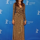 Also at the Berlin International Film Festival in February, Angelina Jolie chose Jenny Packham whilst promoting In The Land Of Blood And Honey.