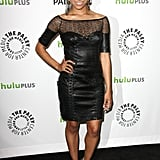 Kat Graham wore a leather dress.