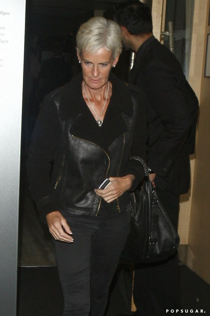 Judy Murray left Nobu after getting dinner with her son Andy Murray.