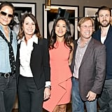 Katie Holmes joined Gina Rodriguez and Chris Evans at Equinox's Gold Meets Golden event.