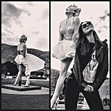 Coco Rocha spent time with Marilyn Monroe during a trip to Palm Springs.  Source: Instagram user cocorocha