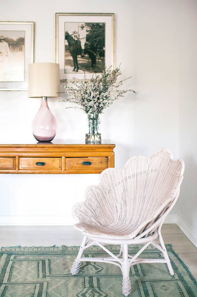 Swap: Velvet Armchairs for Rattan