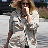Possibly pregnant Drew Barrymore went for a stroll in LA.