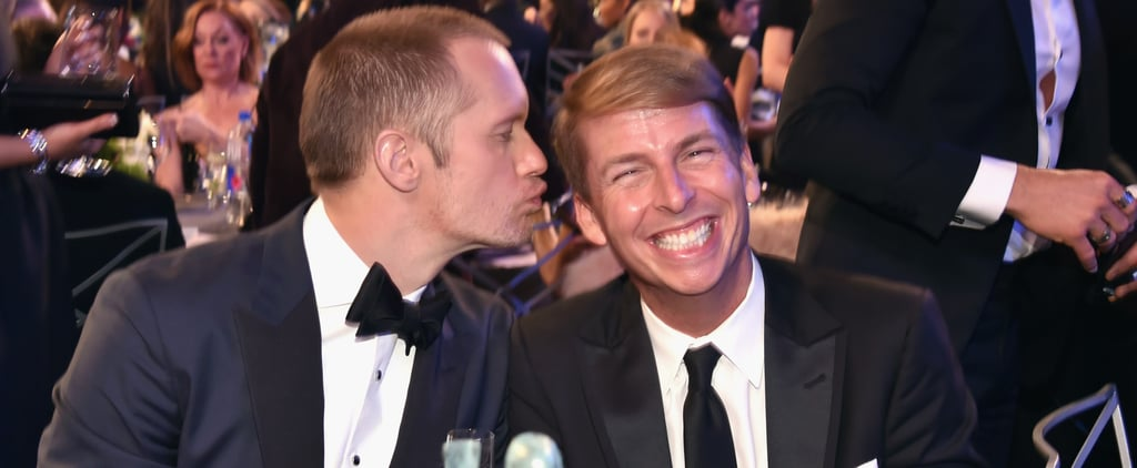Alexander Skarsgard and Jack McBrayer at the 2018 SAG Awards