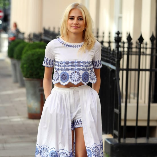 Pixie Lott Wearing a Temperley Co-Ord Set in London
