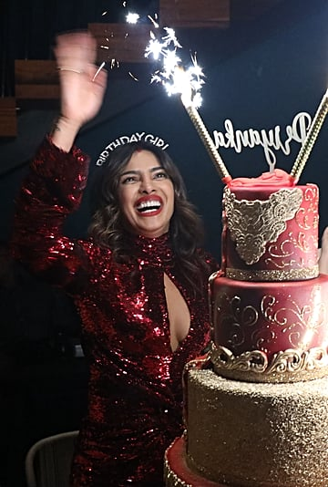 Priyanka Chopra's Red Birthday Dress 2019