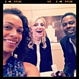 Rosario Dawson and Chris Rock had a laugh with Broadway actress Annaleigh Ashford. Source: Instagram user rosariodawson