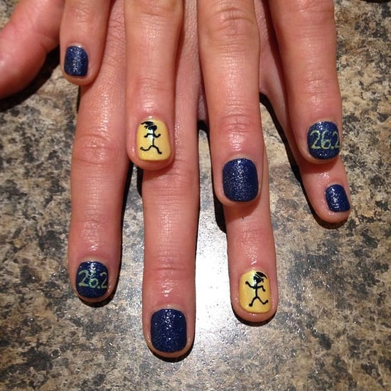 Nail Art Running Manicures | Boston Marathon