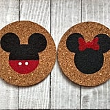 Mickey and Minnie Mouse Cork Coasters
