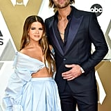 Maren Morris and Ryan Hurd at the 2019 CMA Awards