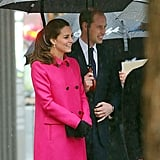 Kate and William smiled while greeting fans in NYC in December.