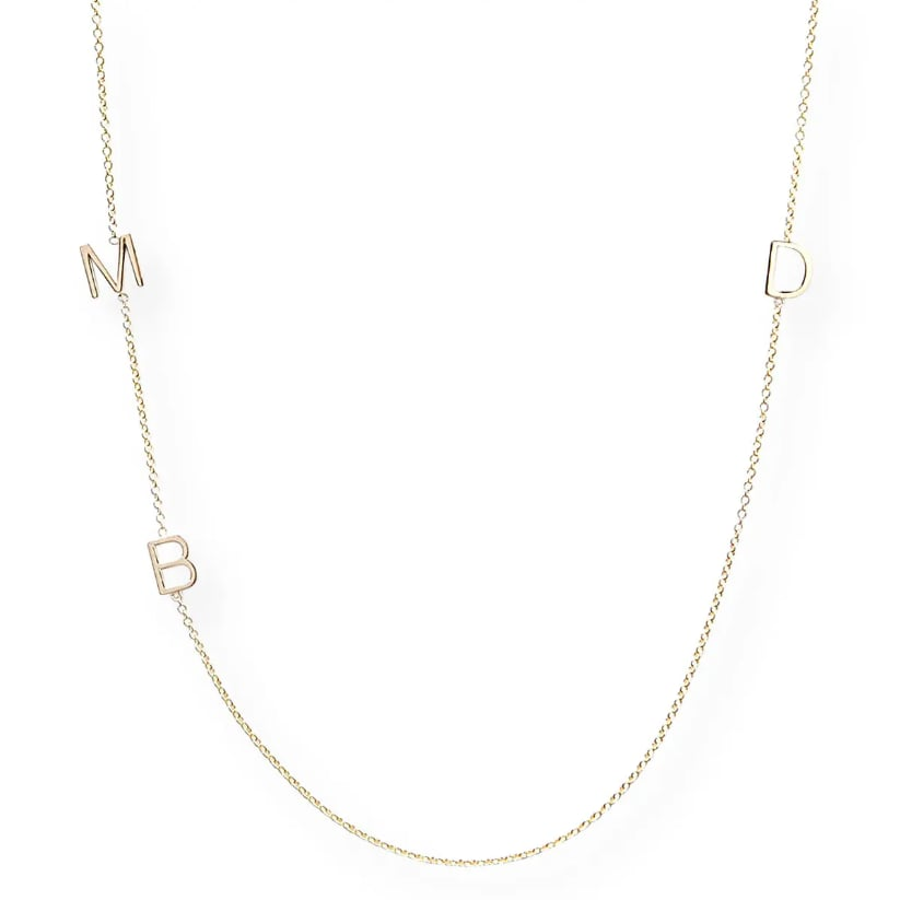 Maya Brenner Designs Mini 3-Letter Personalized Necklace