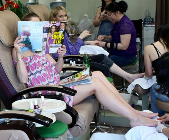 Guess Who Caught Up on Celebrity News at the Nail Salon?