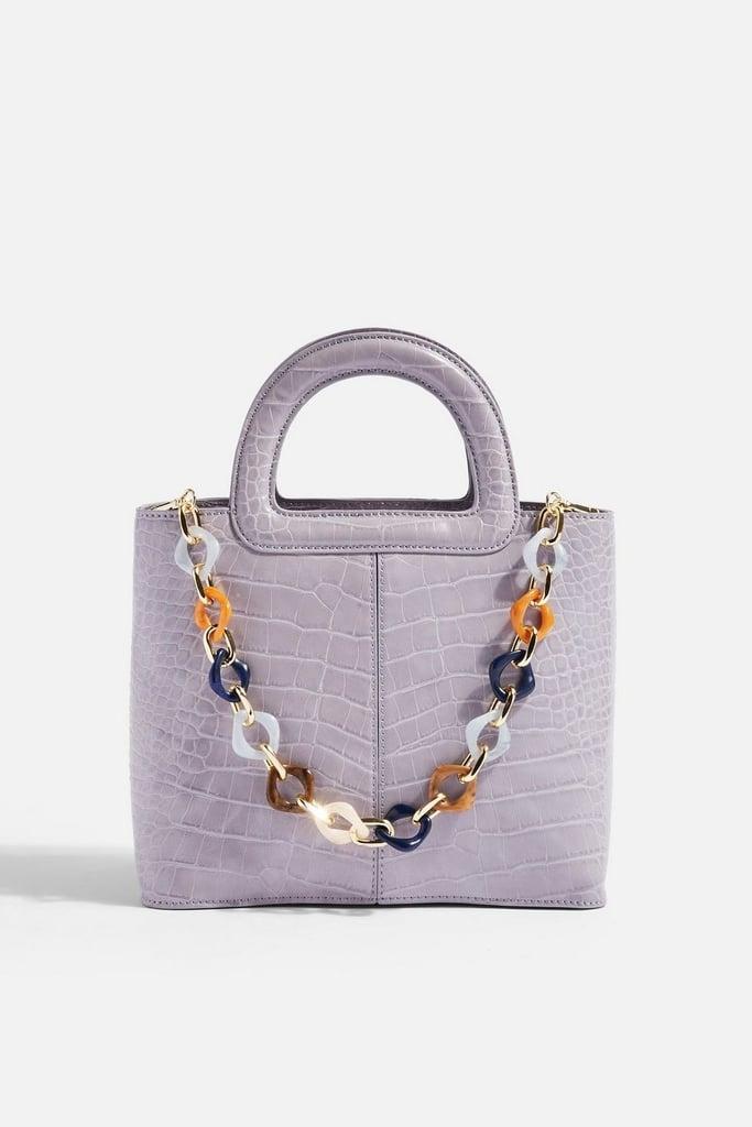 Lilac Croc Bag