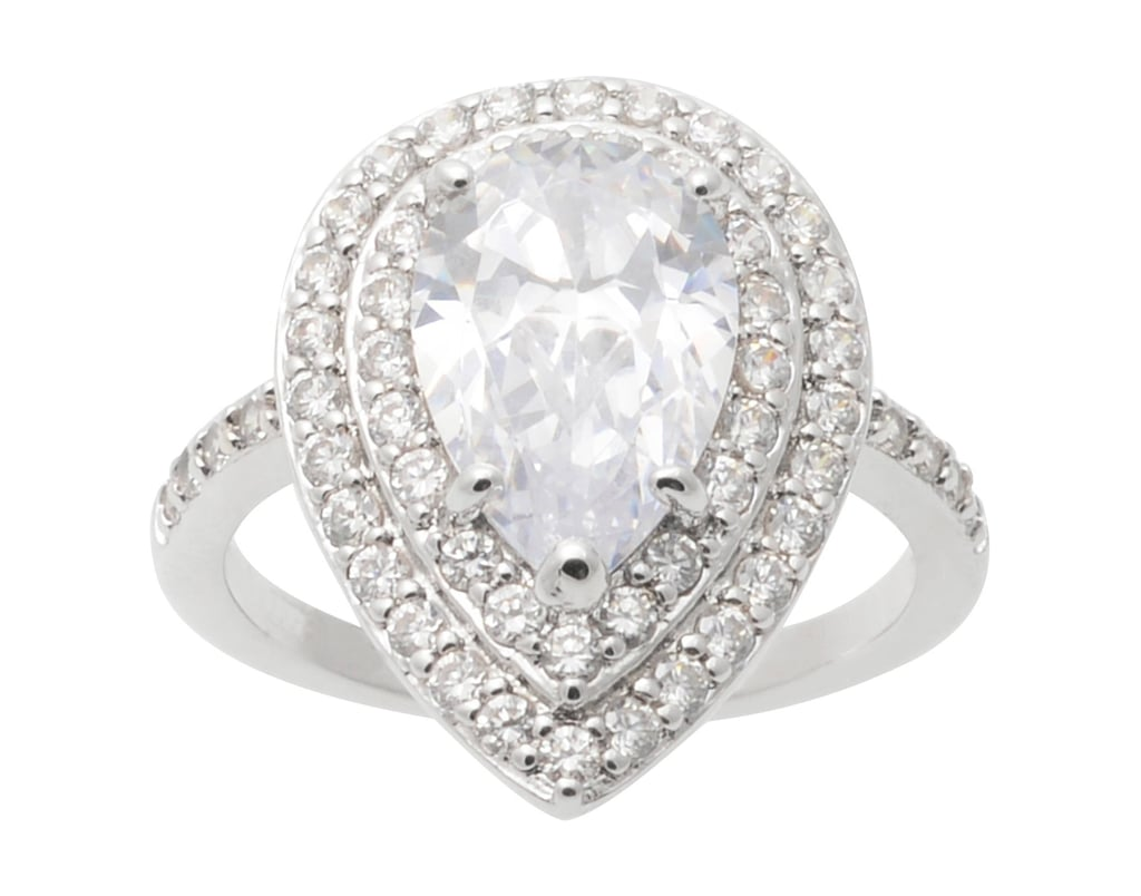 Journee Collection Pear-Cut Cubic Zirconia Engagement Ring