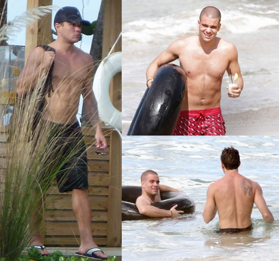 Shirtless Ryan Phillippe and Shirtless Mark Salling Pictures in Puerto Rico