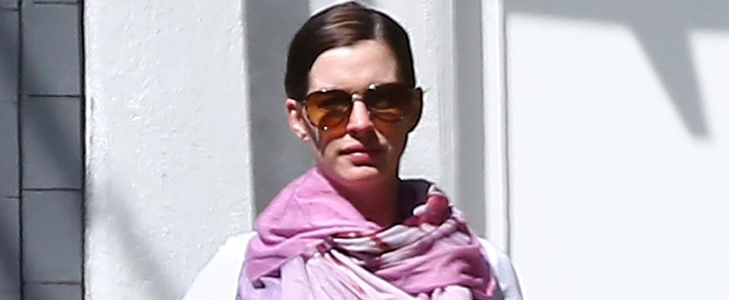 There It Is! Anne Hathaway's Baby Bump Takes Center Stage During a Sunny Stroll