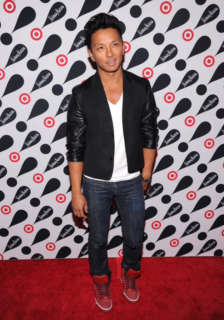 Prabal Gurung hit the red carpet in celebration of the Target and Neiman Marcus Holiday Collection party in NYC.