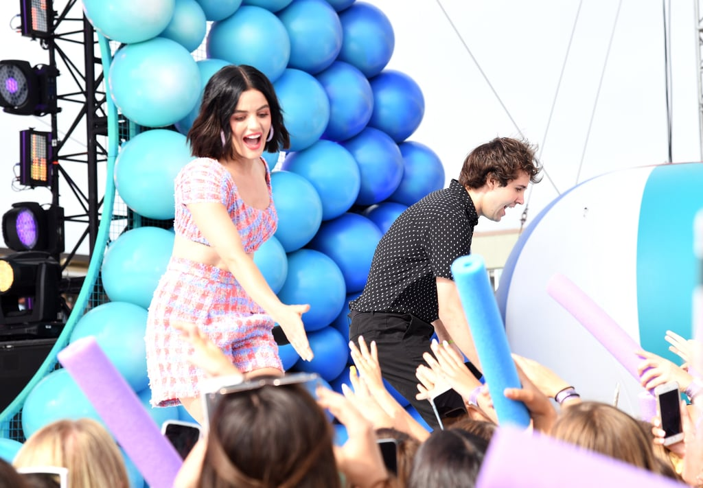 Lucy Hale and David Dobrik at the Teen Choice Awards 2019
