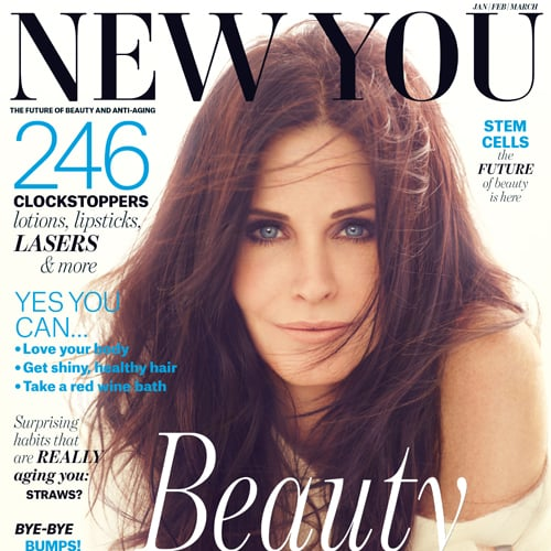 Courteney Cox on the Cover of New You Talking Anti Ageing