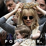 Sienna Miller Mixes Family Time and Flower Crowns at the Flea Market