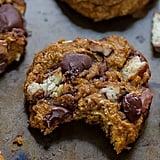 Pumpkin Oatmeal Twix Cookies