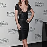 Olivia Wilde looked equal parts sexy and sophisticated in a curve-hugging Talbot Runhof leather sheath dress.
