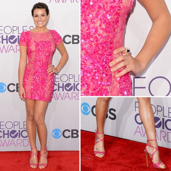 Pics of Lea Michele in Elie Saab 2013 People's Choice Awards
